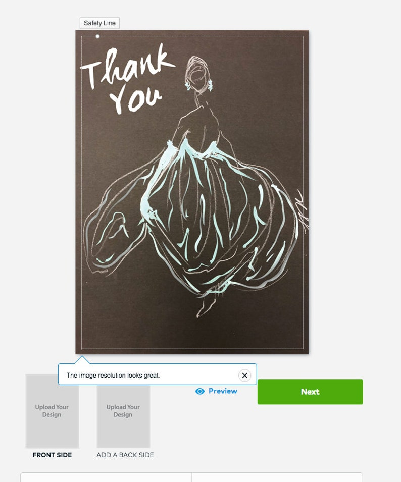 Thank You Fashion Illustration Digital Flyer/Art/Card Designs Pack Of Two