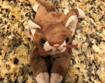 Pounce Ty Beanie Baby Brown Cat 1997 f1d841b059fc