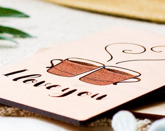 Anniversary Card for Husband, 5 Year Anniversary Card, Wood Anniversary,