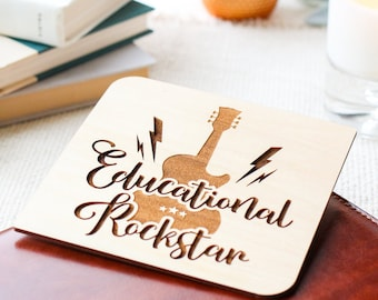 Card for Teacher with engraved personalized message / Gift for Teacher / Classroom decor /  Teacher Appreciation Week / Back to School