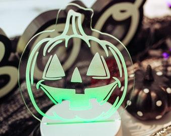Halloween Lights, Halloween Decor, LED Night Light, Pumpkin,