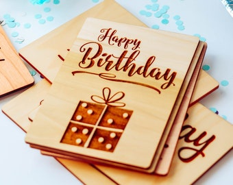 Grandad Gifts, Great Grandma Gift, Grandpa Birthday Card, Grandmother Birthday Card, Wood Card,