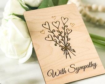Pet Sympathy Gift, Pet Condolence, Dog Sympathy Card, Cat Sympathy Card, Wood Greeting Card,
