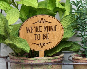 Plant Markers, Wood Anniversary Gift for Her, 5 year Anniversary Gift for Him, Cute Boyfriend Gift,