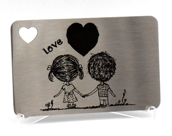 Engraved Wallet Insert, Personalized Wallet Card, Stocking Stuffers for Men, Christmas Presents for Boyfriend,
