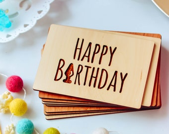 Wooden Birthday card with engraved message / Naughty Birthday Card / Adult humor card / Cheeky Birthday Card / Sexy Birthday Card