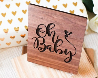 Oh Baby, Baby Shower Card, Gifts for Mom to Be, Personalized Gift,