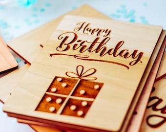Birthday Card, Wood Greeting Card, Birthday Cards Sister,