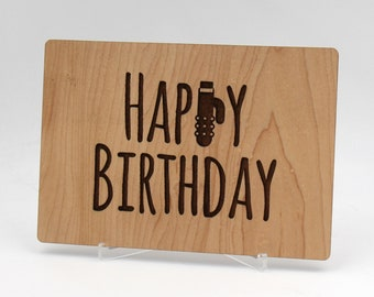 Wooden Birthday Card With Engraved Message Naughty Adult Humor Cheeky Sexy For Her