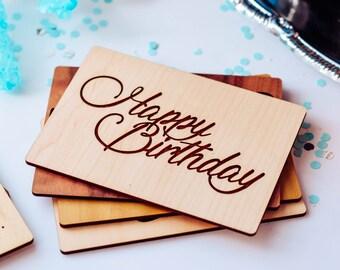 Happy Birthday Card, Happy Birthday Husband, Wooden Gift Cards,