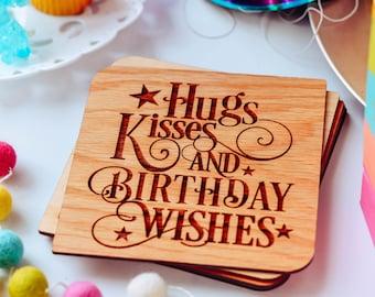 Best Friend Birthday Card, Wood Card, Happy Birthday,
