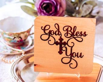 Goddaughter Gifts, Baptism Gift Girl, Goddaughter Christening Gift, Personalized Gift, Christening Card, Wood Card,