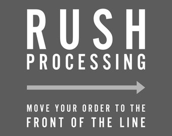 RUSH PROCESSING - Move your order to the front of the line (does not include rush shipping)