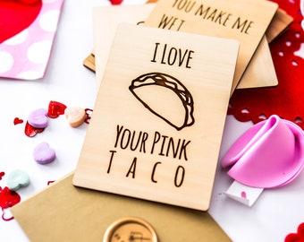 Birthday Card Girlfriend, Lesbian Girlfriend Gift, Naughty Cards, Pink Taco,