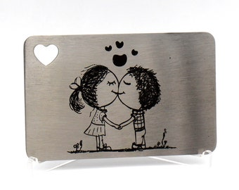 Engraved Wallet Insert, Personalized Wallet Card, Stocking Stuffers for Men, Personalized Gift for Husband,