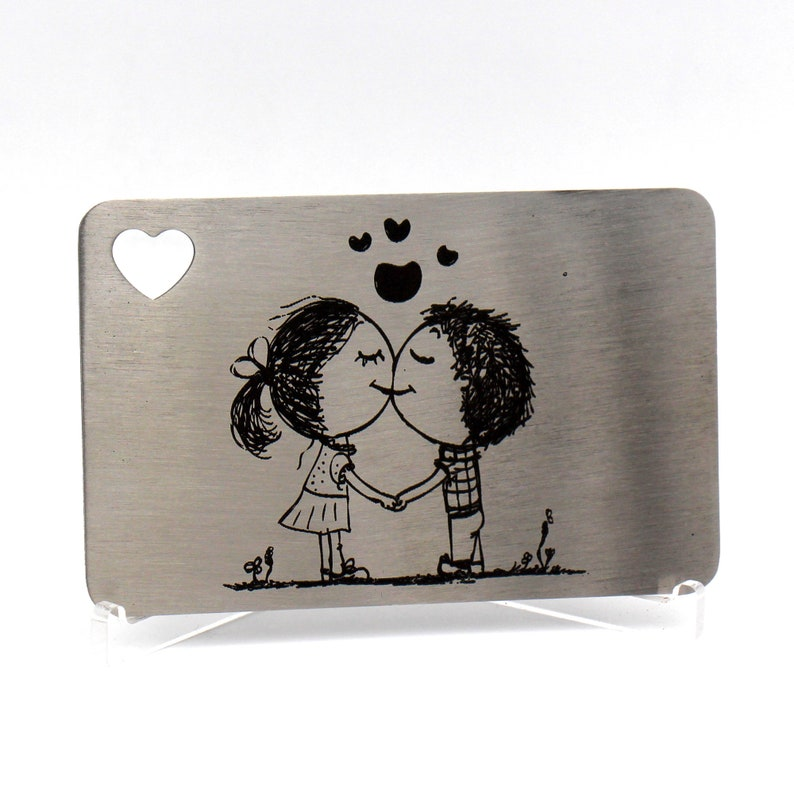 Engraved Wallet Insert Personalized Wallet Card Stocking image 0