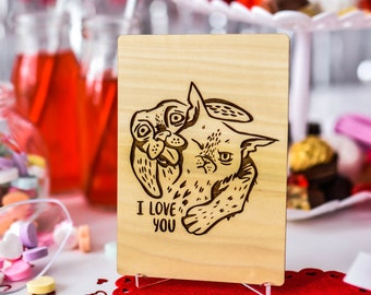 Gift for Bride from Groom, Personalized Gift, Wooden Card,
