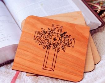 Baptism Gift for Godson, Christening Gift, Baptism Gift Boy, Personalized Gift, Wood Card,
