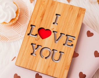 Anniversary Card for Husband, Wood Greeting Card, 5 Year Anniversary Card, Wood Anniversary, 5th Anniversary Gift for Him,