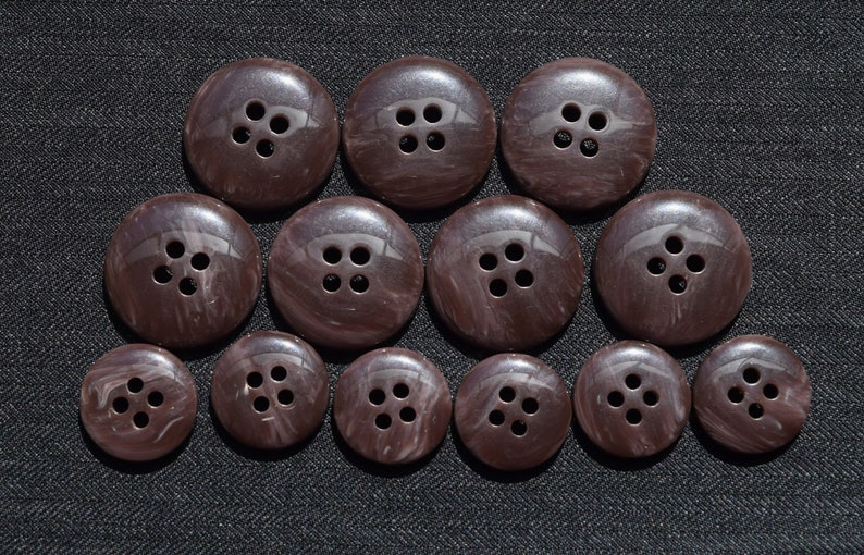 Set of 13  Classic Men Vintage Buttons  Horn Corozo Urea  Double Breasted  Set for Suit Jacket  Men Blazer  Sport Coat  High Quality