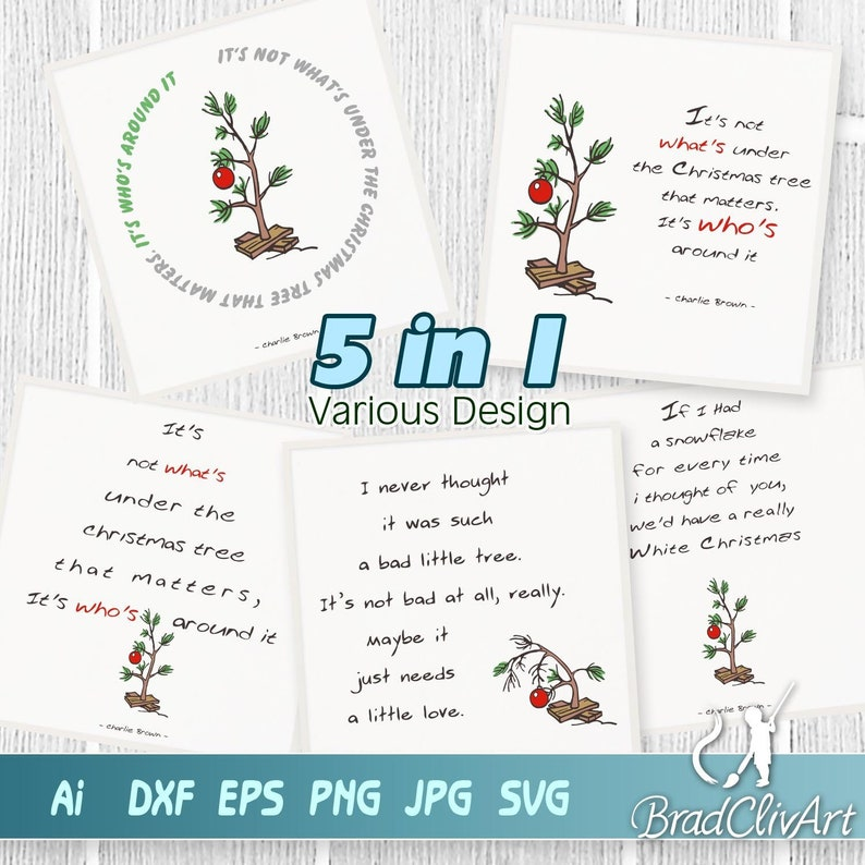 Charlie Brown Christmas Tree Silhouette.Charlie Brown Christmas Tree Quote Verse Svg Digital Cut File For Cutting Rustic Sign Home Decoration Xmas Frame Cricut And Silhouette