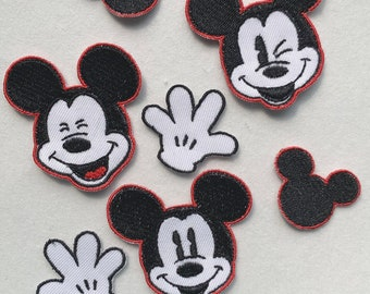 Mickey mouse patch Simpson patches patches for boys 9pc//set Iron on