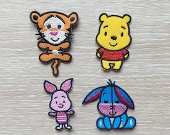 winnie the pooh sew on glue on  motif patch transfer