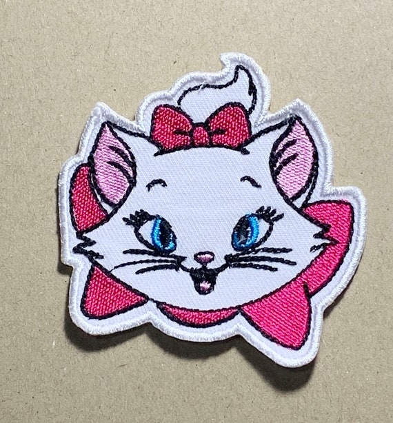 MARIE CAT IRON ON BADGE SEW ON PATCH