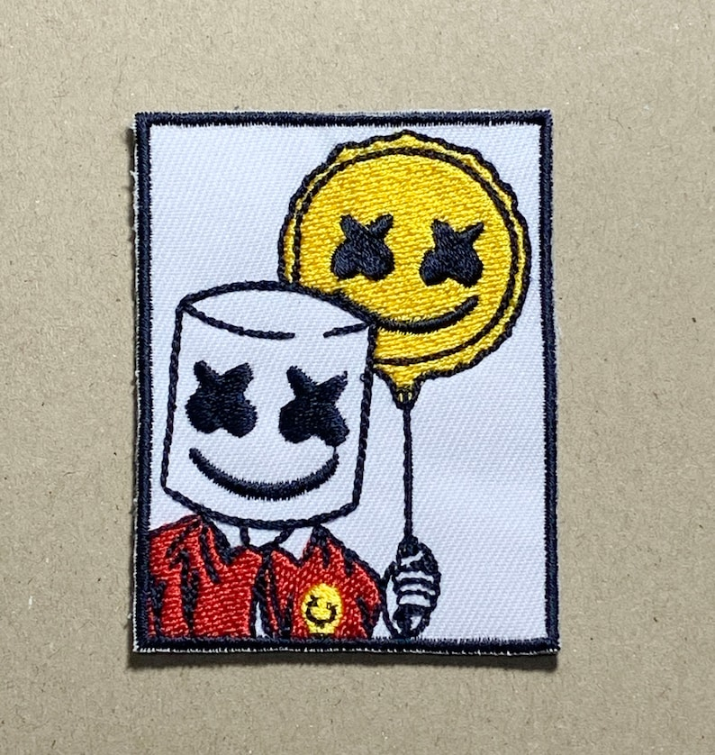 DJ marshmello  iron on patch Game Patches Patches For Jacket Sew On Patch  Logo Back Patch  Embroidered Patch patches iron on2