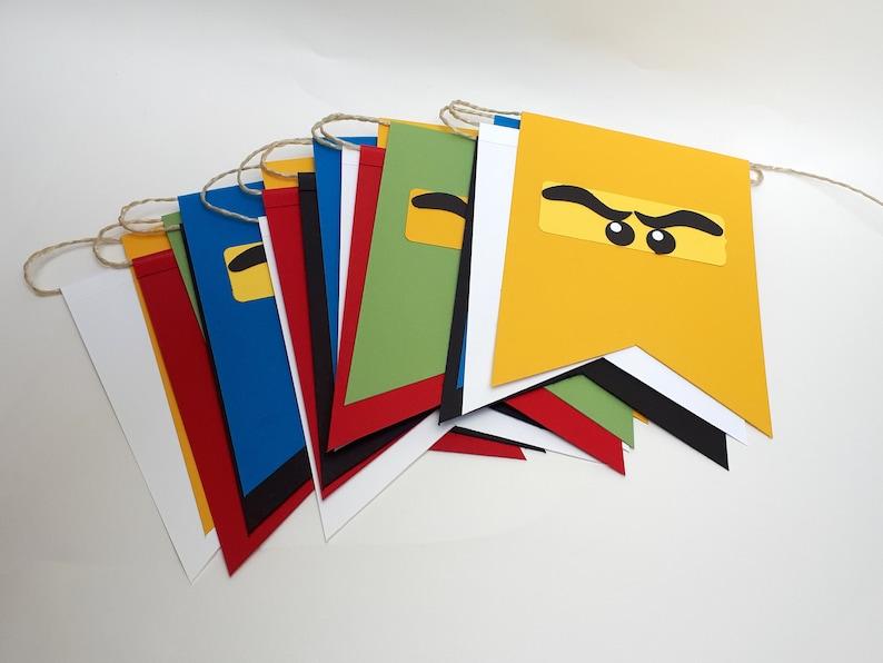 Ninja Wimpelkette mit 20 Wimpeln Kindergeburtstag image 0