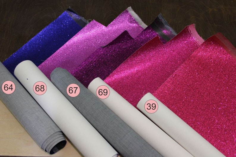 22*30 cm 0.5 mm Glitter Faux leather sheets Vinyl Faux leather fabric sheet Hair Bows 8*12