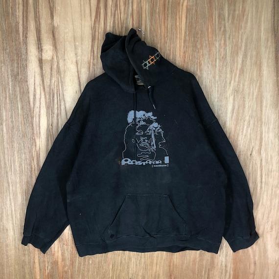 Rare Big Print distress hoodie oversize