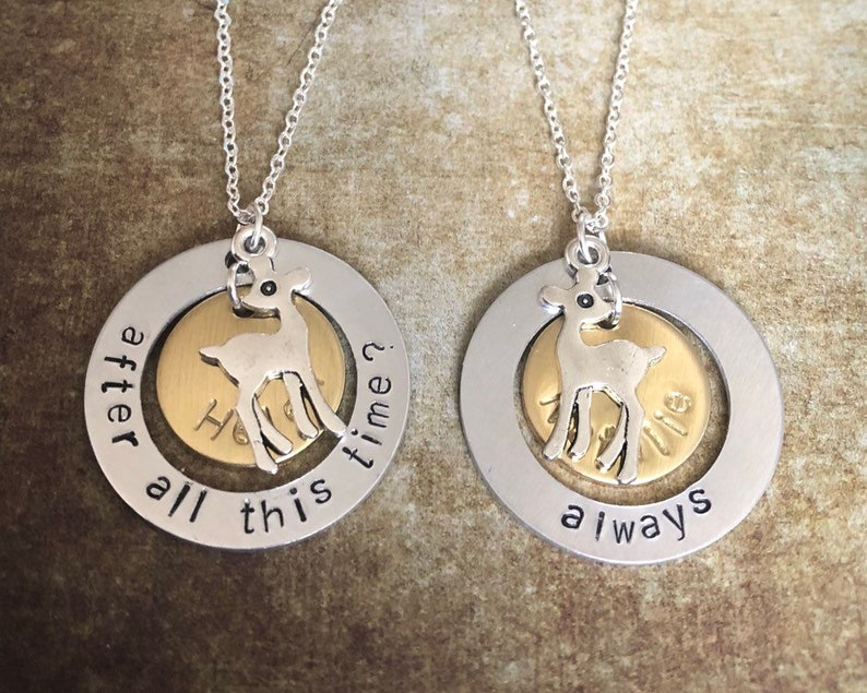 set of two personalised friendship necklaces featuring quotes