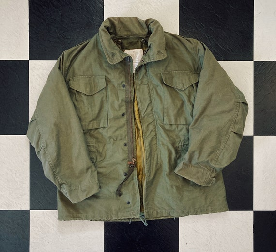 1960s Vintage Army Weather Cargo Jacket with Heavy