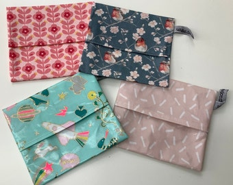 1 soap case SOAP COVER instead of can OF OILCLOTH coated cotton