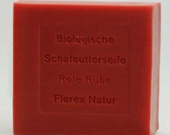 Sheep butter soap Beetroot Organic Sheep butter RED RÜBE 100gr