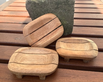SOAP BOWL natural exotic recycled wood wood upcycling