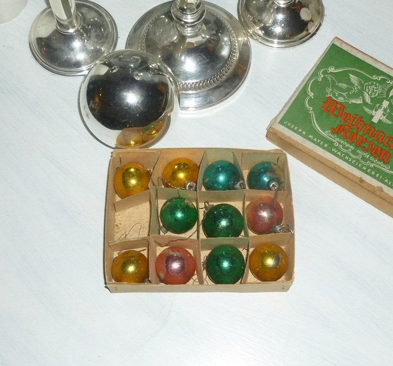 Christbaumkugeln Champagnerfarben.11 Tl Set Uralte Vintage Mini Christbaumkugeln
