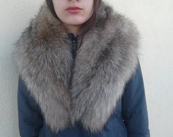 260da41cfbf lite crystal fox fur collar real fox fur collar