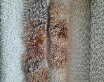 Real Coyote fur hood trim, Coyote fur collar.