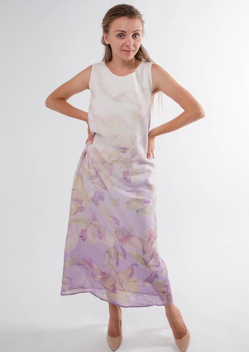 87f733073d Double Layers women dress bottom dress linen top dress