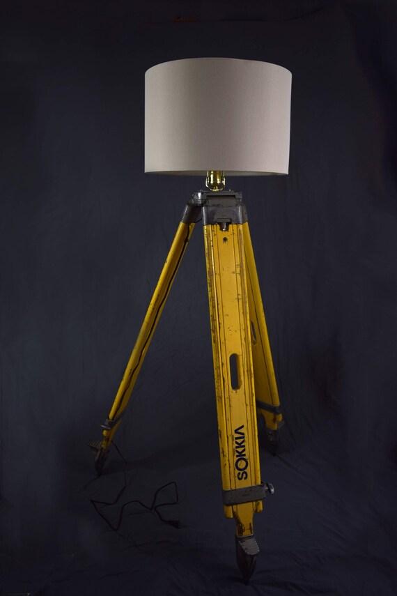 Wooden Survey Tripod Floor Lamp Sokkia Etsy
