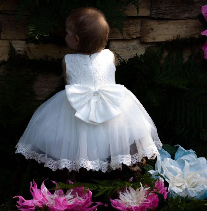 1fec962f7 Christening dress Baptism Dressflower girl dresses for   Etsy
