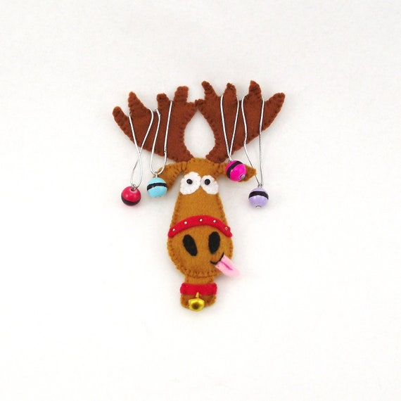 Rudolph Christmas Decorations.Christmas Felt Ornament Reindeer Rudolph Toy Christmas Tree Decor Deer Felt Christmas Decorations Christmas Gift