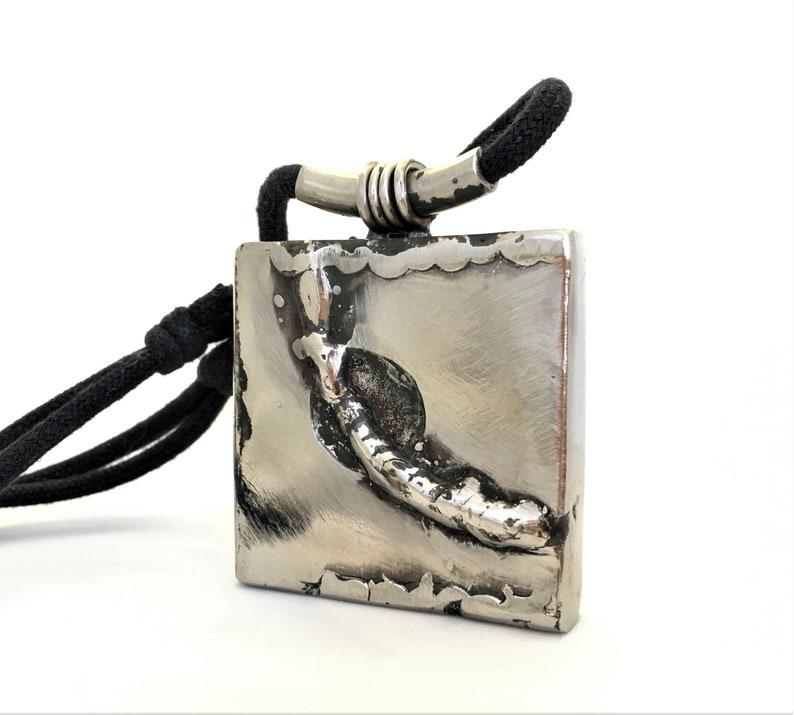 Women Pendant Large Square Pendant Art Necklace Modern Jewelry Gift For Wom\u0435n Girlfriend Gift For Her