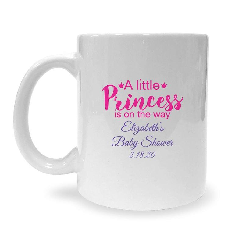 2 color print A Little Princess Is On the Way Custom White 11 oz Coffee Mug - MAE73218Z 24 pcs