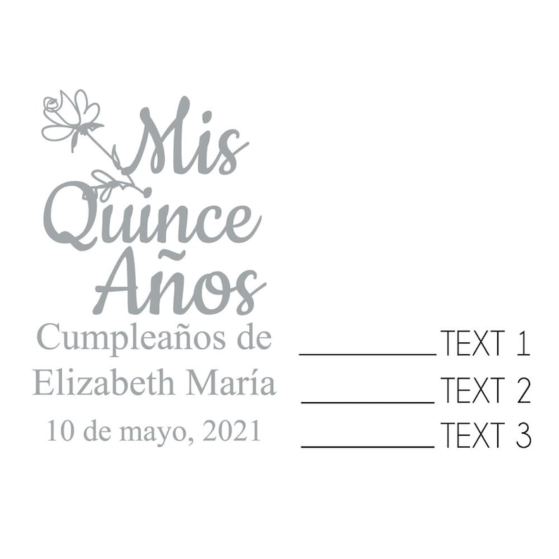 24 pcs Party Favors MAE23G Mis Quince A\u00f1os rose Drawing Personalized Credit Card Shaped Bottle Opener Wedding Favors