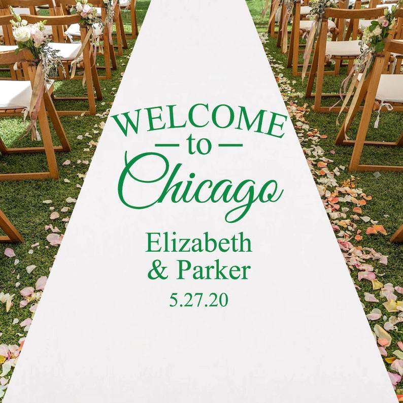 Custom Welcome To State White Personalized Aisle Runner Wedding Aisle Runner Mae23zh Plain White Aisle Runner