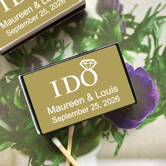 Wedding Favor I Do Personalized Matches 50 PIECES Party Favor MAE82154F Personalized Matchbox