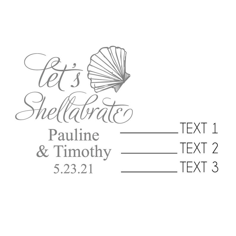 24 pcs MAE23ZJ- Personalized Destination Favors Let/'s Shellabrate Custom Luggage Tag Luggage Tag Favors